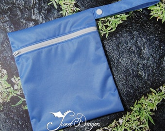 X-Small Wetbag Light Blue PUL with White Zipper