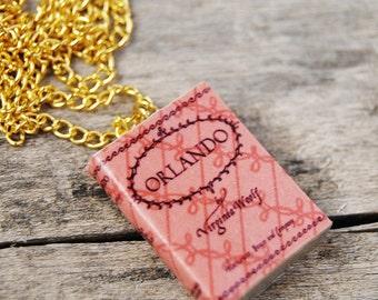Orlando's book necklace
