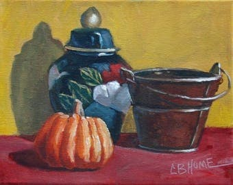 Still Life With Baby Pumpkin