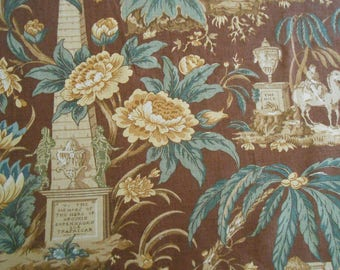 "Lee Jofa Fabric ""NELSON"" 1.5+ yards Fabulous Retired Pattern Admiral Lord Nelson Historical Toile"