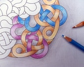 Printable Coloring Page,  Celtic Knot Mandala to color, Commercial and Educational Use,