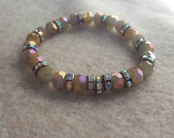Glam bracelet, rhinestone, shiny bracelet.