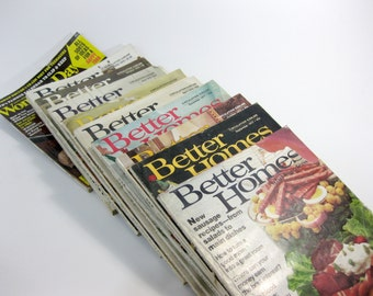 Vintage Set of 11 Magainzes ~ Better Homes and Gardens and Working Woman ~ 1970's ~ Set of 11 magazines