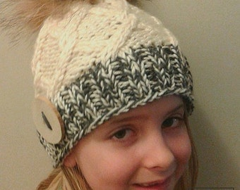 Kyra's kit pattern, knitting pattern, hat pattern