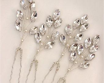 Crystal Wedding Hair Pin - Bridal Crystal Hair Pin - Wedding Hair Pin - Bridal Hair Pin - Bridesmaid Hair Pin - Sofia Hair Pin