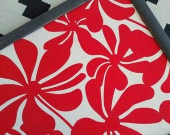 Bright and Fun Fabric Cork Board READY TO SHIP Framed Bulletin Board Office Memo Board Gift 16 x 20