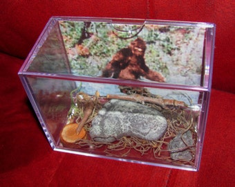 """Bigfoot/Sasquatch  """"Proof of Existence Display! Own a Cast of His/Hers Footprint Today!!"""