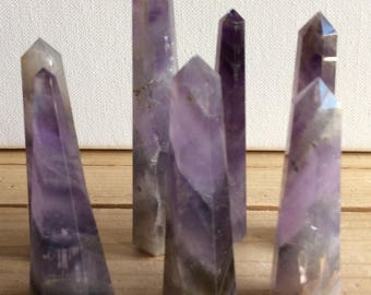 Amethyst Point, Crystal Tower,6 Facet, Free standing, Healing Stone, Healing Crystal, Chakra  Stone, Spiritual Stone