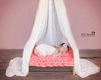 Coral Baby Blanket Newborn Photography Prop