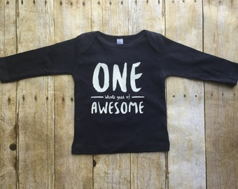 One whole year of awesome shirt, boys 1st birthday shirt