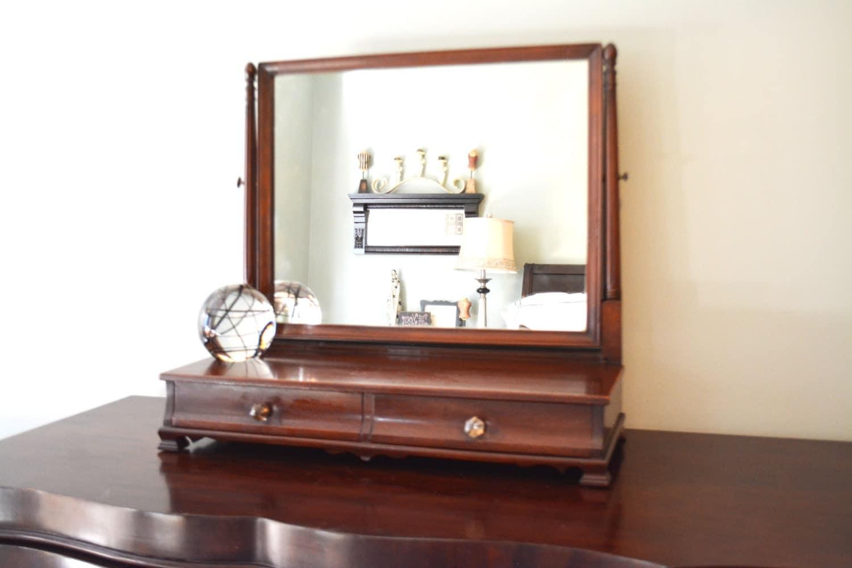 Gentlemans Dresser Top Mirror Dresser Mirror With Drawers