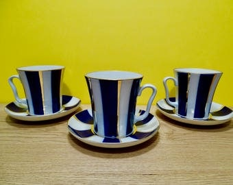Mugs with Saucers, Leningrad, Imperial Porcelain, St. Petersburg 1744