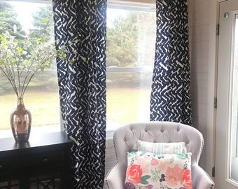 1 Pair of Brand New Blue Curtains you choose your length, Home Decor, Window Treatments, Drapes, Grommet Curtains,