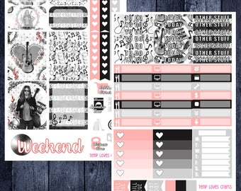 Music Lover Kit for Erin Condren Life Planner Vertical Layout