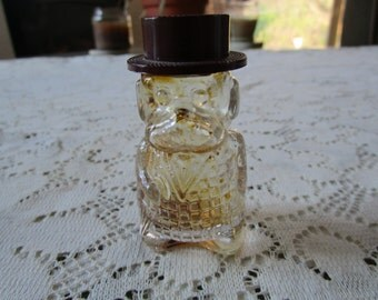 Price Reduced - Vintage Figural Perfume Bottle With Bakelite Top