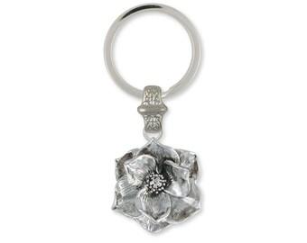 Magnolia Key Ring Jewelry Sterling Silver Handmade Flower Key Ring MG3-KR