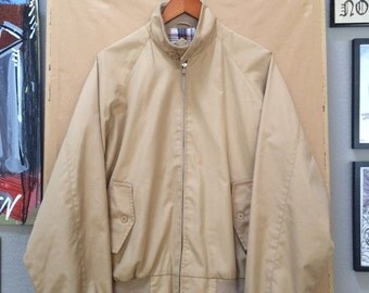 Vintage Schott G9 Harrington Baracuta Jacket Schott Sportswear 1980's Plaid Lined Large Tab Collar