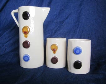 Contemporary Porcelain Drink Set for Two