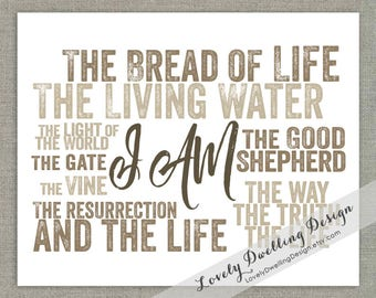I AM the Bread of Life / The Living Water / John / 5x7 / 8x10 / 11x14
