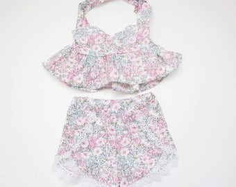Pastel Floral Playsuit for Babies and Toddlers