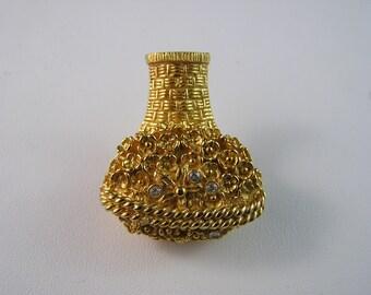Vintage Avon Flower Basket Pin for Glace