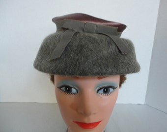 Vintage Gray Mohair Hat