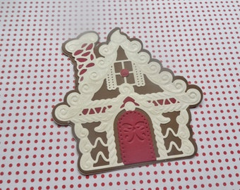 Gingerbread House Tags, Gingerbread House embellishments, Christmas Tags, Gift Tags, Scrapbook Embellishments