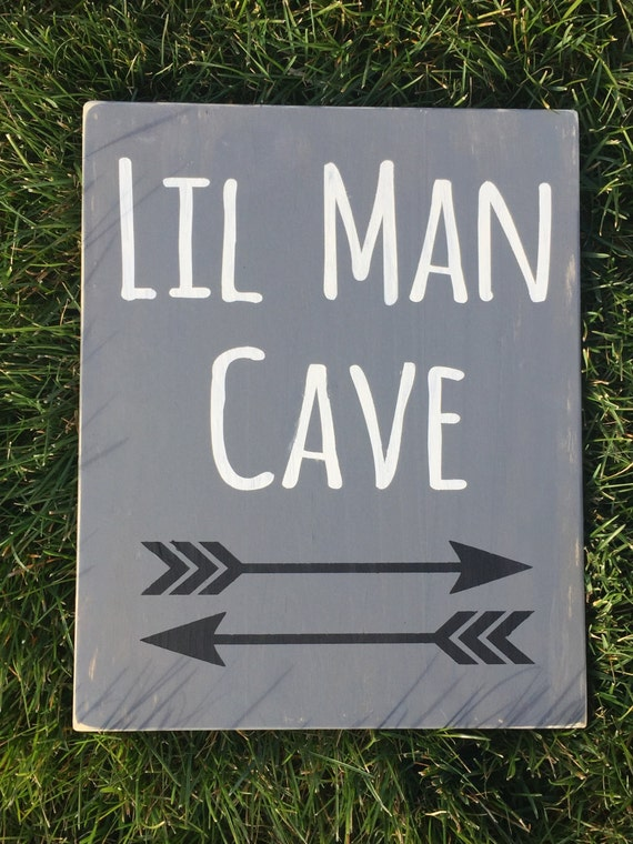 Man Cave Decor Items : Items similar to lil man cave  wood sign