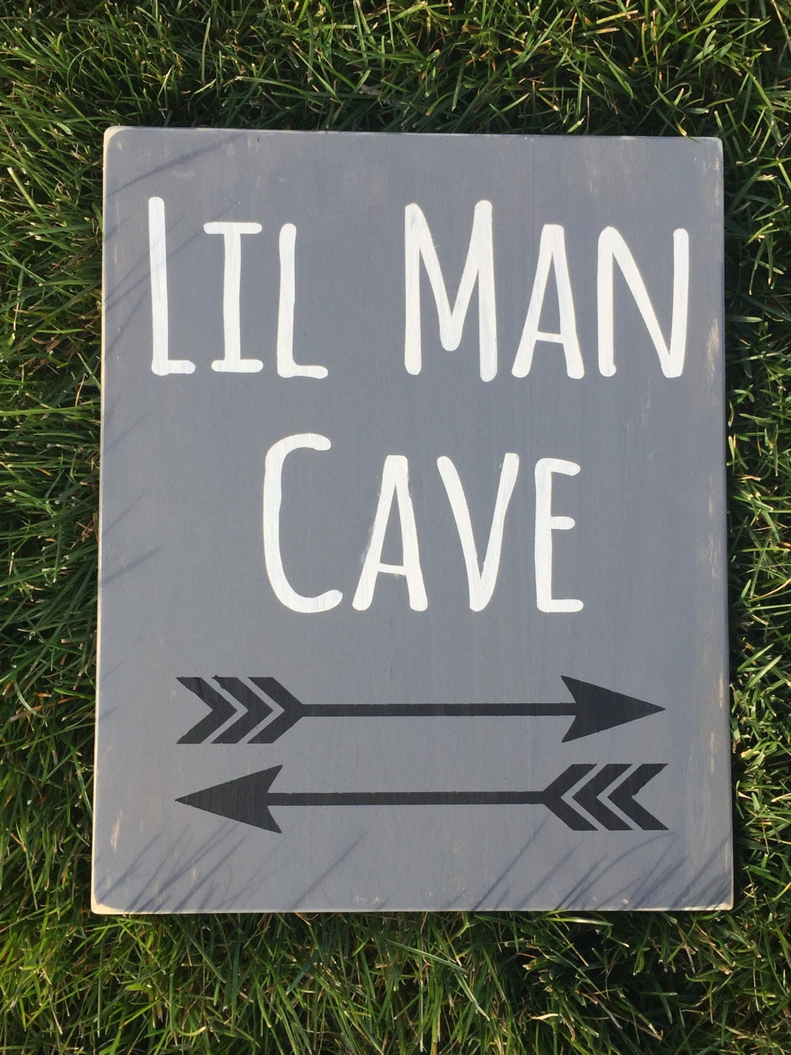 Timber Man Cave Signs : Lil man cave wood sign nursery baby boy decor