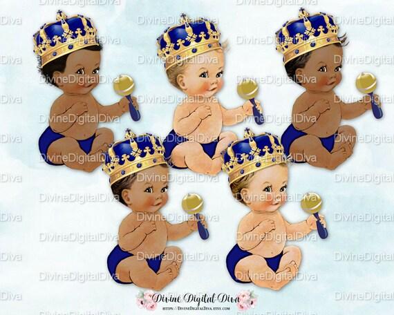 Poco Pr 237 Ncipe Beb 233 Hermano Corona De Oro Adornado De Azul