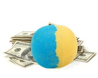 Seduction Cash Money Bath Bomb - Real Cash Inside of Bath Bombs, Cash Bath Fizzes, Surprise Bath Bomb, Dollar Bath Bombs, Surprise, Gifts