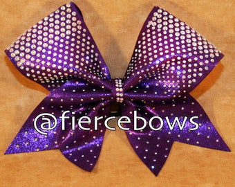 Punch Front Rhinestones on Purple