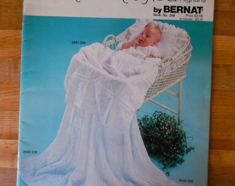 Winkin Blinkin and Nod baby afghans knitting and crochet patterns vintage 1979 Bernat Book 258 18 baby afghan patterns knitting crochet