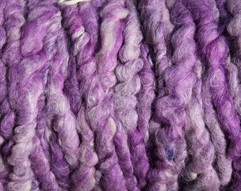 100% suri HEATHERED PURPLE core spun rug yarn