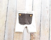 Photo Prop Boy Upcycle Cream Shorts Newborn Baby Size RTS Ready to ship Boy Shorties