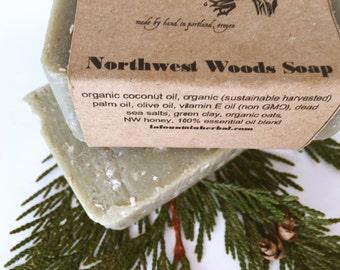 Northwest Woods Soap, Organic Soap, Handmade Soap