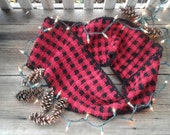 RESERVED LISTING Plaid crochet infinity scarf
