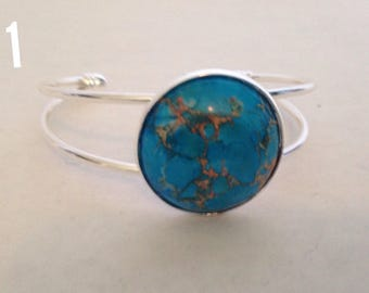 Stone cuff bracelet - cuff bracelet-stone bracelet -gifts for her