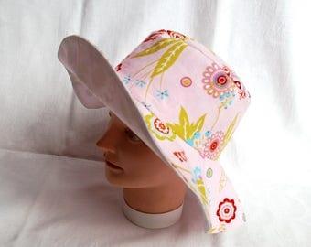 Sun Hat, sun has, chapeau de soleil, Lady's hat, summer hat, flowers, hippie hat, Cap, hat brim summer Hat flowers, summer hat, washable