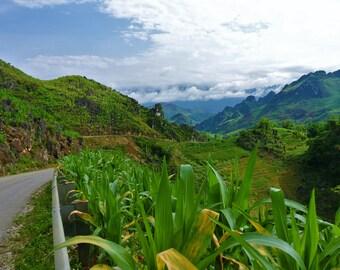 Mountainous Vietnam photo - digital download