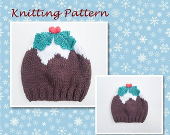 Knitting Pattern For Xmas Pudding Jumper : Pudding hat Etsy