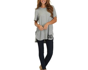 Monogrammed Oversize Tee Shirt - Tunic