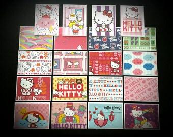 20 Handmade Hello Kitty Cards & Envelopes / Cards with Envelopes / Hello Kitty Cards / Sanrio Cards / Blank Cards / Hello Kitty / Stationary