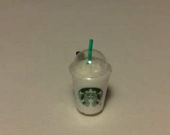 Tiny and cute miniature Starbucks frappuccino coffee brooch