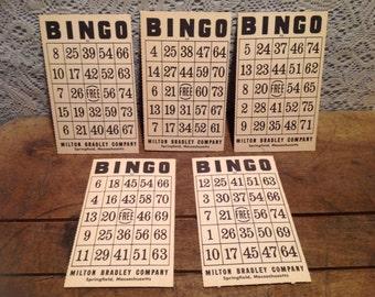 Vintage Milton Bradley Company Bingo Cards