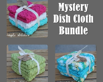 Mystery Dish Cloths - Set of 3 - Surprise Color Pack