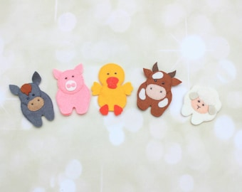 Felt finger puppets for kids farm Animals marionette puppets theatre barn animals game preschool educational toys toddler learning