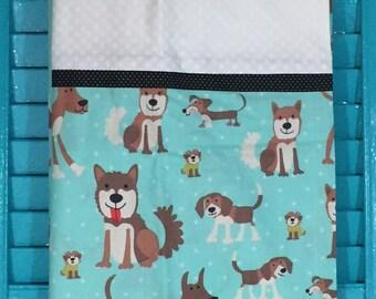 Dog Print Pillowcase