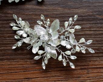 Butterfly Hair Clip Bridal Hair Accessory Decorative Clip