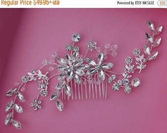 Crystal Bridal Comb Hair Accessories Accessory Wedding Hair Jewelry Prom Party Pageant Gift Birdcage Bird Cage Veil Blusher